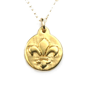 Fleur de lis pendant in 18k vermeil or sterling silver aloadofball Image collections
